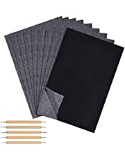 Black Carbon Paper Sheets, 30cm*21cm Transfer Tracing Paper with 5 Pcs Wooden Handle Stylus Tools, Used for Drawing on Paper Wood Canvas, DIY and Craft 100PCS