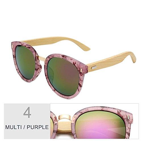 De Espejo Sol Redondo Con Mujer Para Gafas TIANLIANG04 Gris Regalo La Gradual De Negro Color Purple Caja Multi I5wEWqEAxX