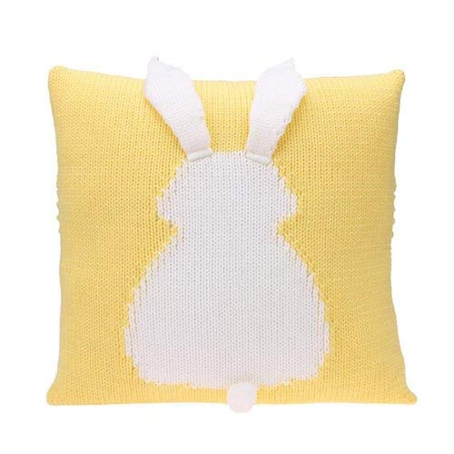 (Pillow Cover 55x55cm - 35x35cm Knitted Rabbit Cushion Covers Warm Soft Sofa Room Pillow Decorative Pillowcase Baby Photo - Seat Brown Pillow Living Crutches Purple Kids Glitter Texture)