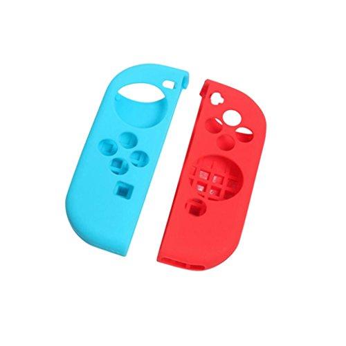 MagiDeal Cubierta Caja de Controlador Antideslizante Soporte Piel + Doblez Para Interruptor de Nintendo