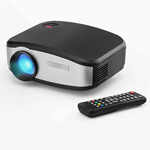 [CHEERLUX Mini Projector HD 1200 Lumen with LED Technology For Ipad Iphone 6 6s 7 7s plus Android Phone And Chromecast MHL Ideal For Home Theater Game Movie-Black] (Cheap Homemade Halloween Games)
