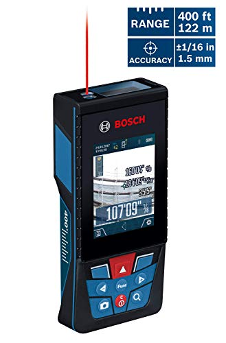 Bosch GLM400CL Blaze Outdoor Connected Laser Measure with Camera, 400 ft Range