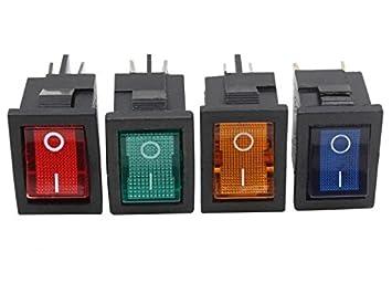 Beleuchtung Schalter | 5x Mini 12v 230v Kfz Wippschalter Stromschalter Kippschalter 13x20mm