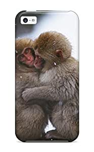 New Fashion Premium Tpu Case Cover For Iphone 5c - Mokey's Keeping Warm