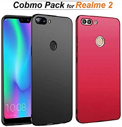 reputable site 7198f 1b433 RidivishN Realme 2 Back Cover (Combo Pack of 2) Ultra Thin Shock Proof 360  Degree Protection Light Weight Hard Back Cover case for Realme 2 (Black &  ...