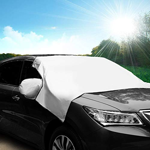 Adoric Life Car Windshield Sun Shade Cover, UV Rays Blocker Windshield Sun Shade Protector Blocks Heat & Sun, Keep Your Vehicle Cool (S)