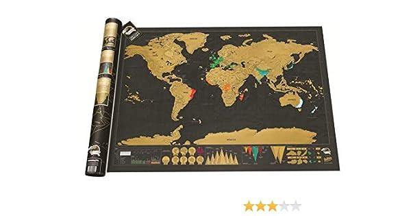Mapa del mundo para rascar Deluxe, mapamundi para rascar Luxe ...