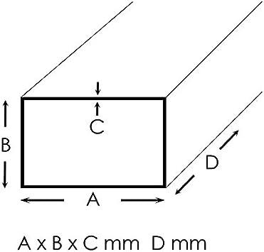 Edelstahl Quadratrohr Vierkantrohr Konstruktionsrohr V2A 1.4301 Blank 40x40x2mm 1500mm