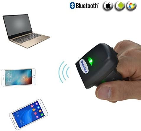 2K Offline Codes Big Memory only 50g Rugged Metal Turntable Compatible iOS Android Mac Bluetooth Wearable Barcode Scanner 1D Mini Ring Scanner FS03