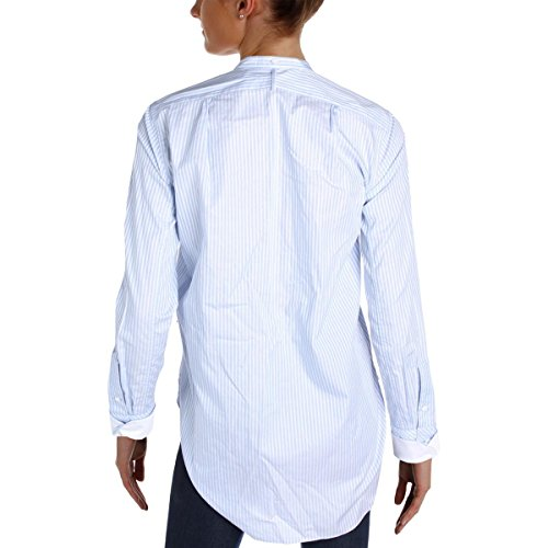 Helmut Lang Womens Striped Long Sleeves Button-Down Top Blue S by Helmut Lang (Image #1)