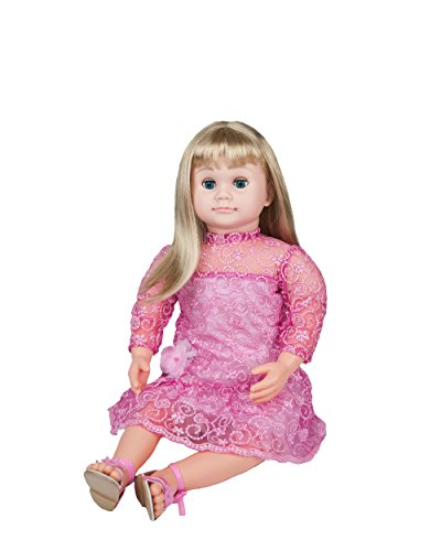Ask Amy 22  Talking Interactive Singing Storytelling Smart Educational Doll Blond Pink Dress