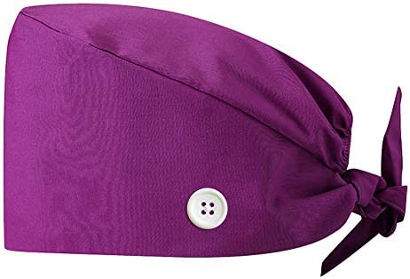 TOSFOGO Upgrade Working Cap with Buttons, Adjustable Working Hat Sweatband for Women Men One Size