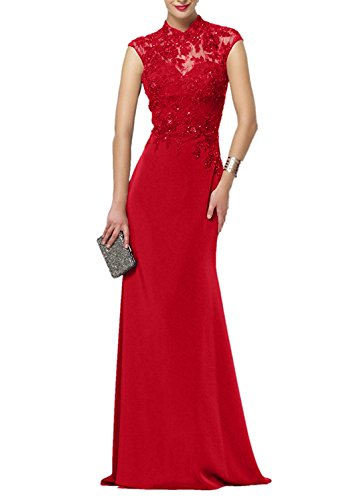 Etui Weinrot Neu Rot Chiffon Ballkleider 2018 Damen Partykleider Abendkleider Kleider Charmant Glamour Lang 45tqvw4
