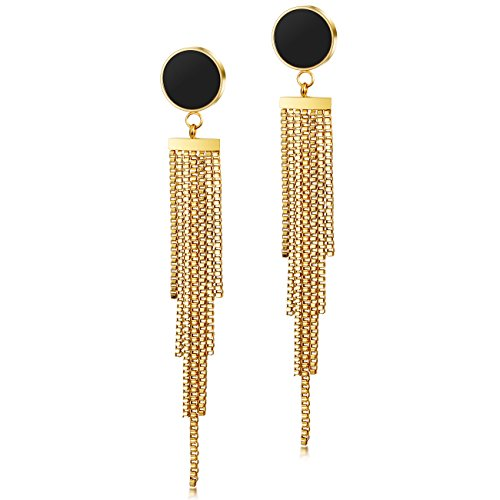 CIUNOFOR Tassel Earrings for Women Stain...