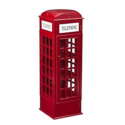 Charmant Southern Enterprises Phone Booth Storage Cabinet In Red