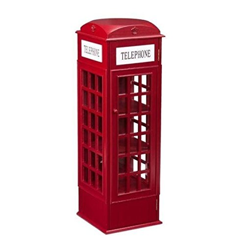 Southern Enterprises Phone Booth Storage Cabinet in Red (Sideboard Enterprises Southern)
