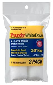 Purdy 140606042 Wire Mini White Dove Roller Replacements, 2-Pack,  4 inch x 3/8 inch Nap