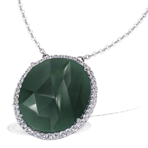 Goldmaid - Fa C6663S - Collier Femme - Argent 925/1000 4.3 Gr - Aventurine