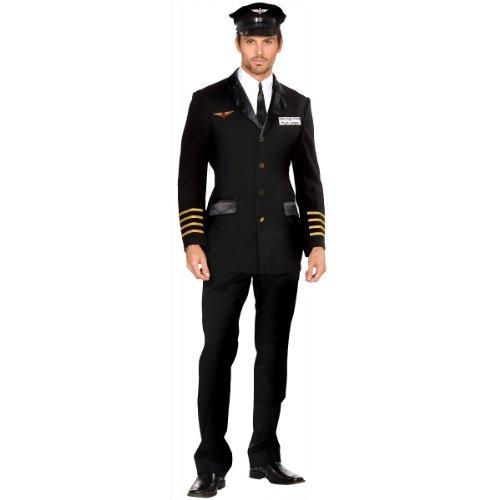 Mile High Pilot Hugh Jorgan Adult Costume - Medium