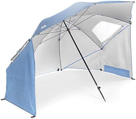 Sport-Brella XL Geventileerd SPF 50+ zon en regen luifel paraplu voor strand en sportevenementen (9-voet)