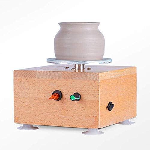 GFF Mini Fingertip Electric Pottery Wheel Forming Machine, tragbare Tonkunst DIY 2000mA wiederaufladbar für Keramikarbeiten Tonkunst Handwerk Erwachsene Kinder für Spaß Werkzeuge