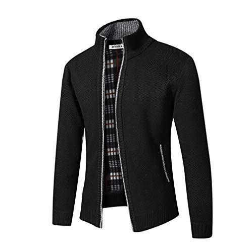 Homme Cardigan Veste en Maille Ouvrez-Front Zippé Gilet Automne Hiver avec Poche Gilet Veste en Maille pour Homme avec…