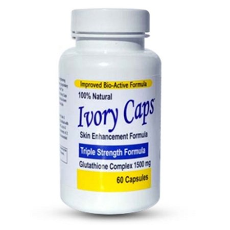12 Bottles of Ivory Caps Skin Enhancement Glutathione Complex 1500mg - Triple Strength Formula - NEW LOW Price!
