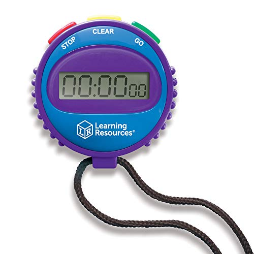 Learning Resources Simple 3 Button Stopwatch, Supports Science Investigations, Timed Math Exercises, Elapsed Time Tracking, Ages 5+ (Stopwatch Handheld)