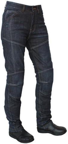 Bleu Roleff Racewear Jean Aramide Pantalon Moto 32