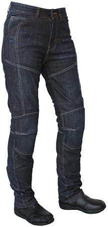 Gr/ö/ße 29 Schwarz Roleff Racewear Motorradhose Kevlar Jeans f/ür Damen