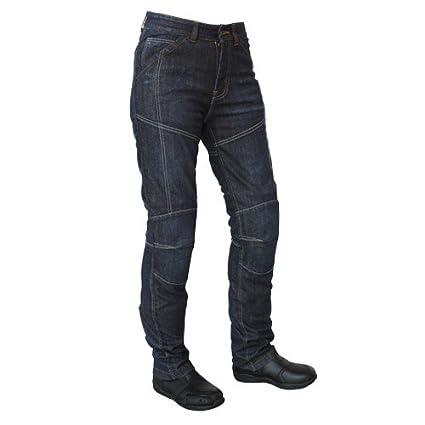 Roleff Racewear Pantalones Vaqueros de Motorista de Aramida para Mujer, Azul, 31