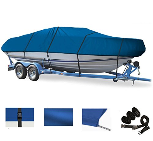 BLUE, GREAT QUALITY BOAT COVER FOR SEA RAY 190 SPORT W/ EXTD SWPF 2012-2015 (Sea Sport Boat Ray)