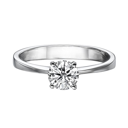 (NDSTORE GIA Certified D VS2 Round Diamond Solitaire Engagement Ring in 14k White Gold (1/3 ct, D Color, VS2 Clarity))