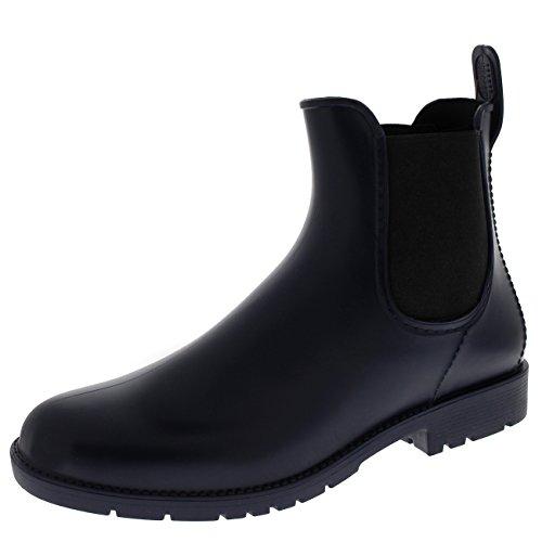 Polare Produkter Kvinners Kort Wellington Vinterfestival Vanntett Chelsea  Boots Navy