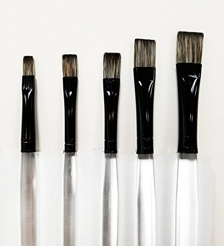 Fusion Flat Brush Set (Short Handle) by Jansen Art Studio