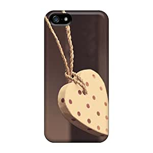 [uYZ25pmpd]premium Phone Cases For Iphone 5/5S Heart Shaped Ornaments Cases Covers