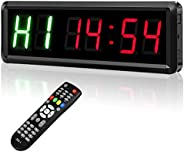 """Interval Timer Count Down/Up Clock, Seesii 1.5"""" LED Digits Gym Timers Stopwatch with Remote for Home Gym"""