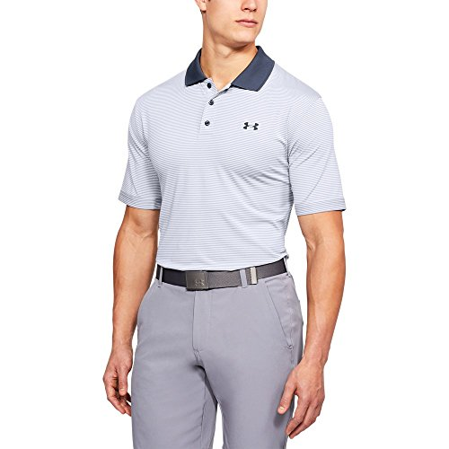 Under Armour Men's Performance Patterned Polo, White /Stealth Gray, X-Large