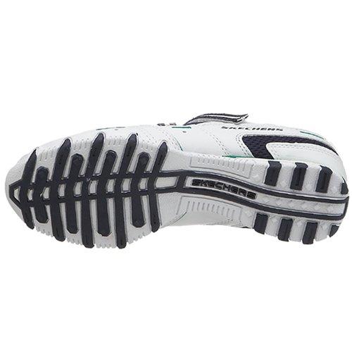 Skechers Sport Donna Bikers-spokes Sneaker Bianco / Navy / Verde