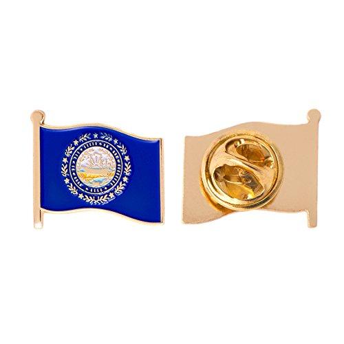 (New Hampshire NH State Flag Lapel Pin Enamel Made of Metal Souvenir Hat Men Women Patriotic (Waving Flag Lapel Pin))