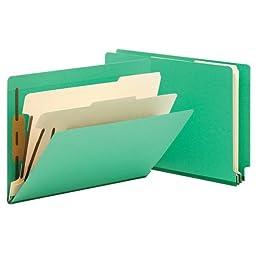 Smead End Tab Classification File Folder, 2 Divider, 2\