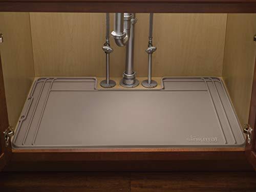 Kitchen WeatherTech USM01TN Sink Mat Tan under-sink organizers