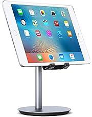 AUKEY Supporto Tablet Regolabile Alluminio (Proteggere la Vertebra cervicale) Porta Telefono per iPad Air/Mini, iPhone X / 8, Samsung, Kindle, Nintendo Switch e Altri Tablets And Smartphones