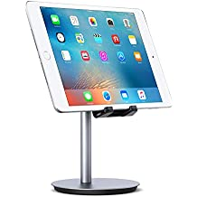 AUKEY Tablet Stand Adjustable Aluminum (Prevents Neck Strain) Cell Phone Holder Stand Compatible with iPhone X / 8, iPad, Samsung, Kindle and Others Smartphones and Tablets Up to 10 Inches