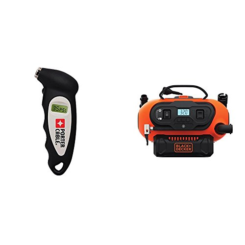 PORTER-CABLE PCMT81557 Pressure Gauge with BLACK+DECKER BDINF20C 20V Lithium Cordless Multi-Purpose Inflator (Tool Only) by PORTER-CABLE (Image #1)