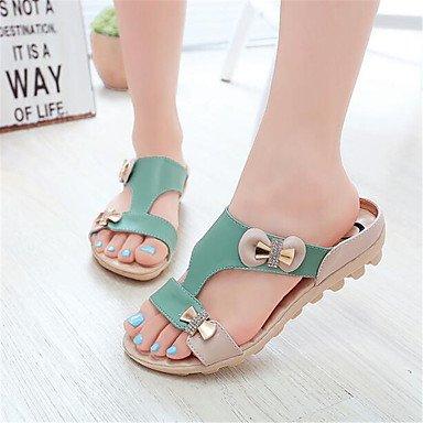 RTRY La Mujer Sneakers Confort Lienzo Pu Confort Informal De Resorte Plano Blanco US8 / EU39 / UK6 / CN39
