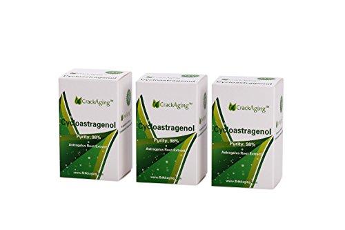 SUPER-ABSORPTION Cycloastragenol 98% (10mg/cap, 180 Caps in 3 Bottles) by Crackaging