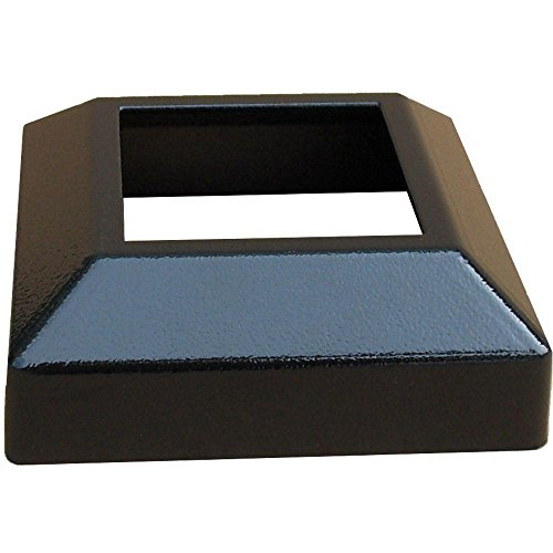 (EZ Handrail 3 in. x 3 in. Textured Black Aluminum EZ Post Low Profile Base Cover)