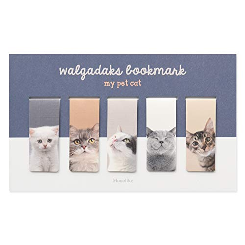 Monolike Magnetic Bookmarks My pet cat, Set of 5