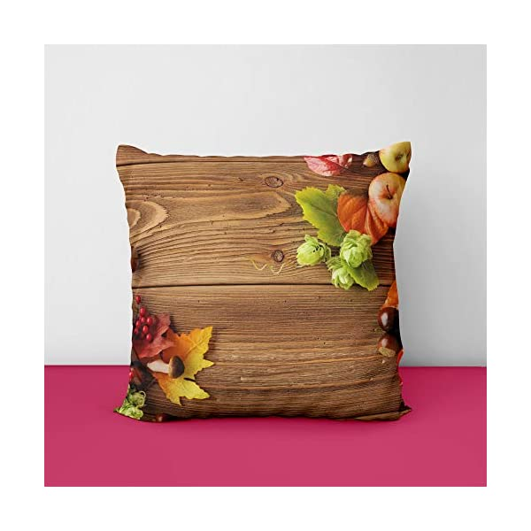 414MJXPOK3L Woden Fruit Square Design Printed Cushion Cover